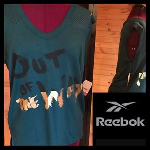 New Reebok Athletic Graphic Tee T Shirt Workout