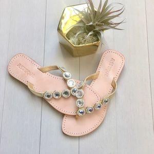 Anthropologie Shoes - 🎉HP🎉 NWOT Mystique Crystal Embellished sandals ✨