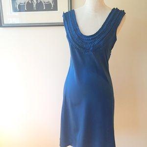 Susana Monaco Dresses & Skirts - Susana Monaco blue silk slip dress triple strap 4