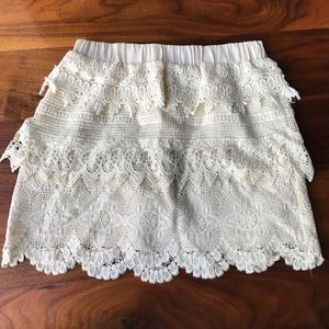 Layered lace skirt
