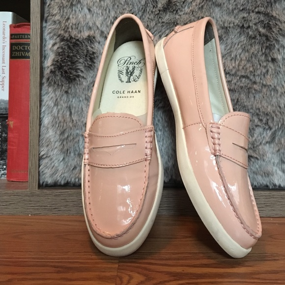 c3717d7addd Cole Haan Shoes - Cole Haan Seashell Pink Patent Pinch Weekender