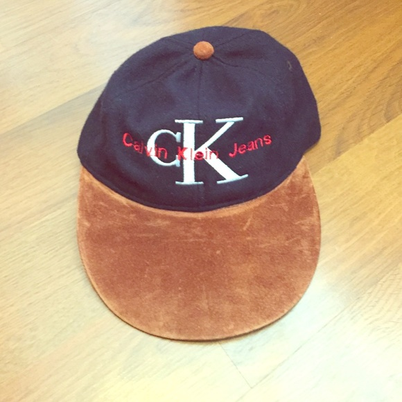 b55e01b9ff4 Calvin Klein Suede and wool dad hat