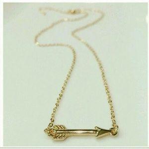 Farah Jewelry Jewelry - Jewelry | Gold dipped Arrown Pedant Necklace
