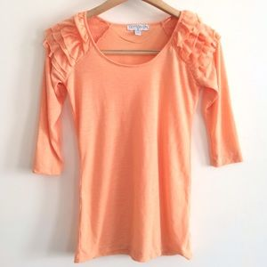 Cotton On Tops - [Cotton On] Ruffle Shoulder Top