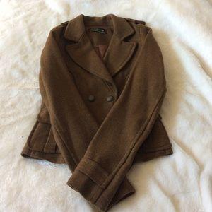Zara jacket size medium, brown