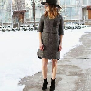 Madewell Dresses & Skirts - {madewell} leather installation pocket dress
