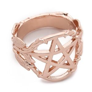 PAMELA LOVE PENTAGRAM RING ROSE GOLD