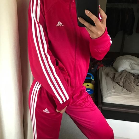 b9d0bae08bd Adidas Jackets   Blazers - Pink adidas sweatsuit
