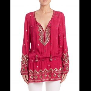 Calypso St. Barth Tops - Calypso sequin embellished tunic