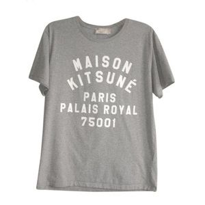 MAISON KITSUNE Other - MAISON KITSUNE Palais Royal Men T Shirt Gray