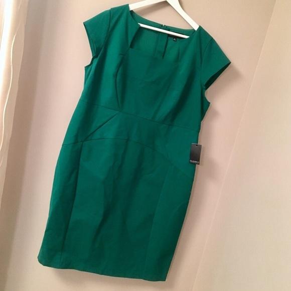 3245f20648e Brand New Green Eloquii Erika Sheath Dress