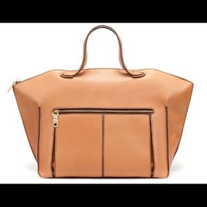 Zara classic leather bowling bag 2012 collection