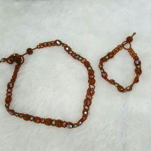 Jewelry - Beautiful Choker and bracelet set