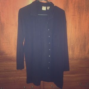 Vintage Dark Blue Button Down Cardigan
