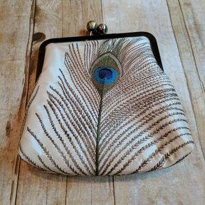 Peacock feather clutch (Bag Noir)