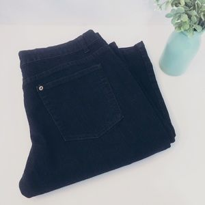 The Limited Denim - THE LIMITED Jeans Straight Leg Size 14 Dark Wash