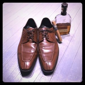 a. testoni Other - A. Testoni brown leather lace up oxfords