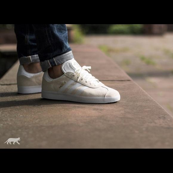 adidas gazelle white mens