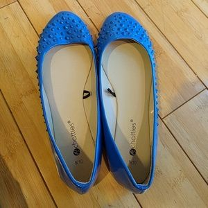 chatties Shoes - Bright Blue Studded Flats