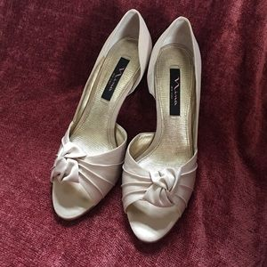 Nina cream colored shoes.