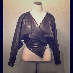 Authentic Original Vintage Style Jackets & Blazers - Vintage 1980s British made black leather jacket