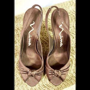 Nina Shoes - 💰CLEARANCE‼️Nina Brown Heels