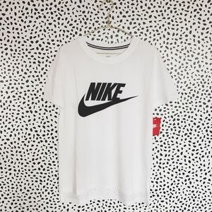 Nike White + Black Logo Tee