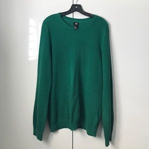 H&M men kelly green sweater