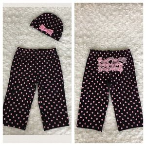 Baby Essentials Other - Baby Girl's matching pants with ruffles and hat
