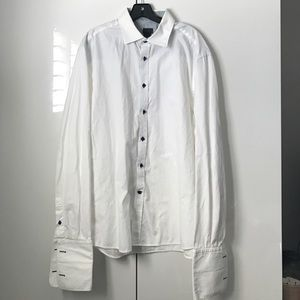 H&M men white XL button down shirts