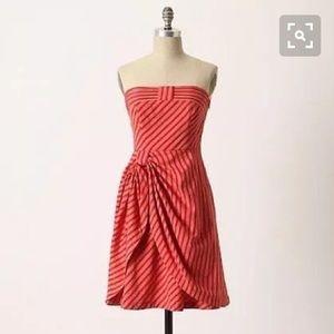 Anthropologie Blazing Rays Strapless Dress by lil