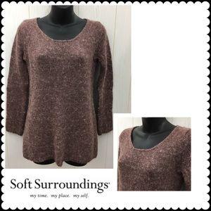 Mauve Alpaca Blend Sweater SOFT SURROUNDINGS XS