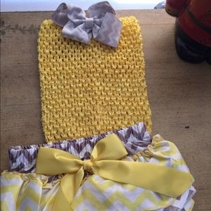 Bambi's Tutu's Other - Cute diaper cover, matching top and removable bow