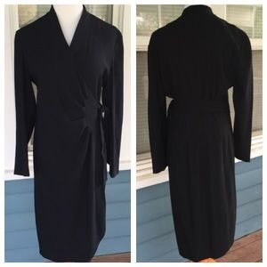 Liz Claiborne Dresses & Skirts - LIZ CLAIBORNE Black Wrap Dress
