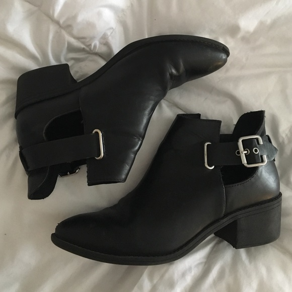 H&M - H&M Black cut out ankle boots from Jane\'s closet on Poshmark