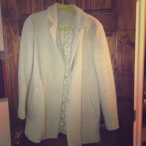 Wool pastel green coat