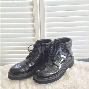 Rocky Shoes - Rocky black patent leather Chukka
