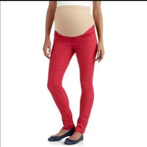 Denim - Red skinny jeans Motherhood Maternity Medium