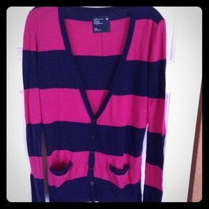 American Eagle Outfitters Sweaters - ♠️BLACKJACK 3/$21♠️AE Striped Cardigan