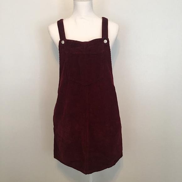 20434f54d04 TopShop Corduroy Overall Dress. M 587d1efa5a49d0fc0c0e589d