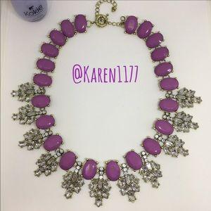 Karen1177 Jewelry - 💜Orchid Purple & Crystal Statement Bib Necklace💜