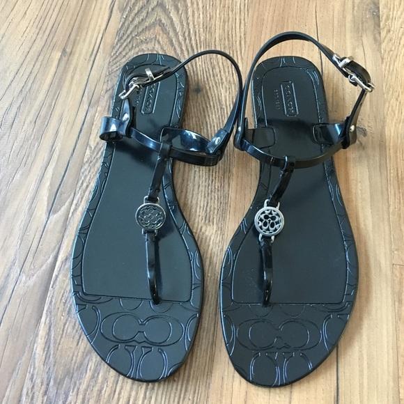 b6d5fe719dd5 Coach Shoes - NWOT Coach black jelly sandals Pansy