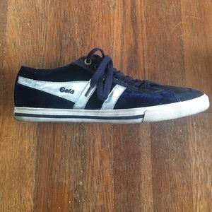 Gola Shoes - Velvet Gola navy blue sneakers