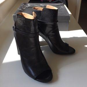 Banana Republic open toe black boots - NWT