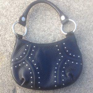 Women's Kenneth Cole Black Studded Hobo Bag