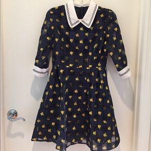 Shein Dresses & Skirts - 🚺Adorably fun A-line navy dress 🚺