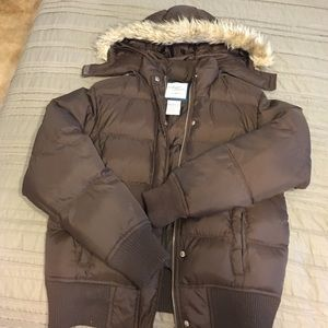 Avalon Jackets & Blazers - Brown puffer coat