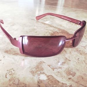 Steve Madden Pink Metallic rose gold Sunglasses