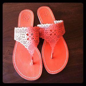 Orange Tory Burch Thong Sandal