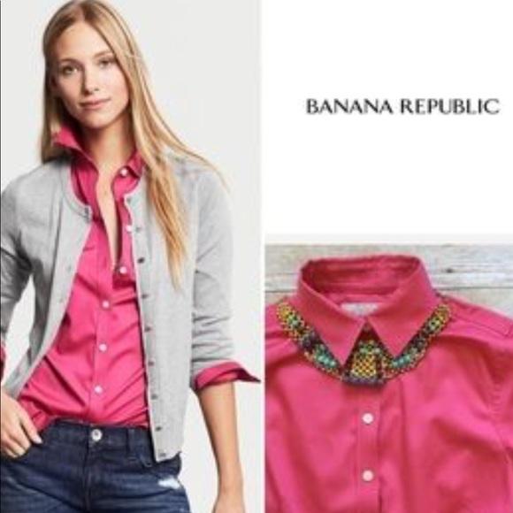 Banana Republic Tops - Banana Republic size 8p Pink Button Down